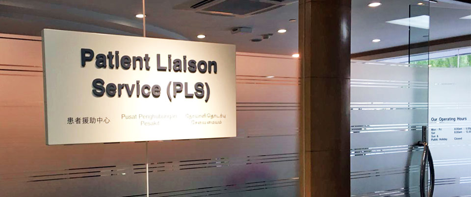 GP referral to Patient Liaison Service at Singapore General Hospital