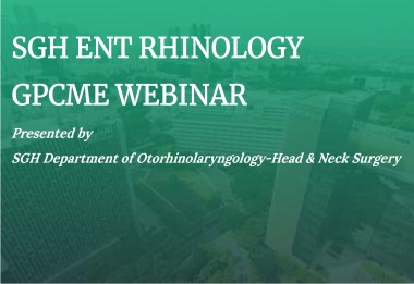 SGH ENT Rhinology GPCME Webinar