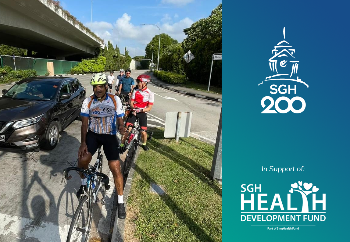 #SGH200km cycle by Healthcare Heroes