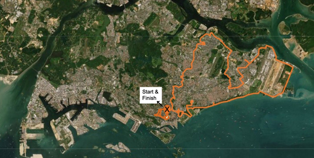 In the 24-hour SingHealth Digital Relay, there are 200 spots – 1 km apart - all around Singapore along a route that covers every SingHealth institution. A pair of runners would be waiting at each spot to join the relay.