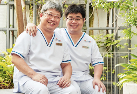 Like father like son (Singapore Health - Nursing)