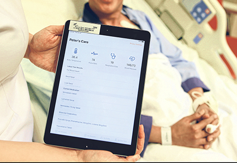 App for inpatients to access data, ask for nurses' assistance