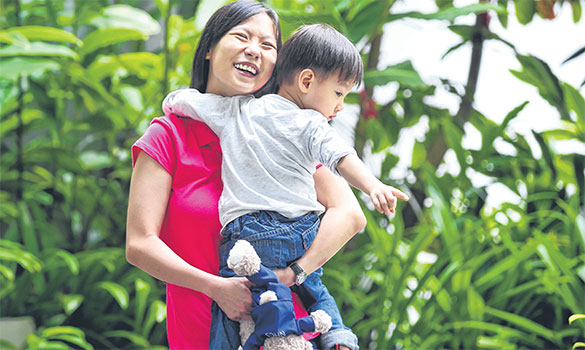She benefited from SGH's joint clinic scheme when she was expecting her first child three years ago. Ms Tan, who was born with two holes in her heart, had a difficult pregnancy. Supervision by doctors from the cardiology joint-clinic enabled her to deliver a healthy boy at 26 weeks.