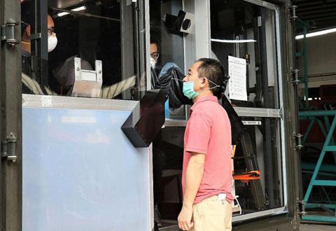Coronavirus: Mobile station aims to make swabbing at dorms faster, safer