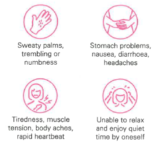 Physical symptoms of generalised anxiety disorder - KKH